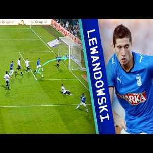 12 years ago Robert Lewandowski scored this backheel goal 4 minutes into his debut match in Ekstraklasa for Lech Poznań