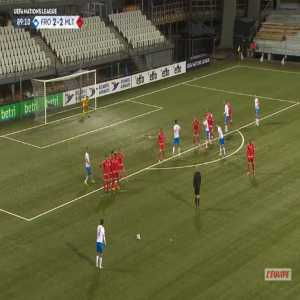 Faroe Islands [3]-2 Malta - Brandur Olsen free-kick 90'