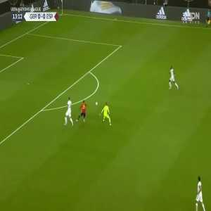 Rodrigo very good chance vs Germany