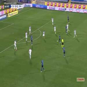 Italy [1]-1 Bosnia - Stefano Sensi 67'