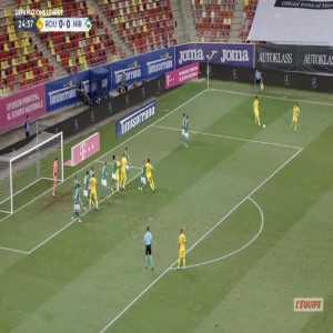 Romania 1-0 Northern Ireland - George Puscas 25'