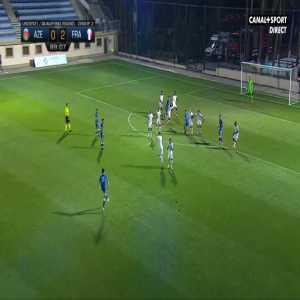 Azerbaijan U21 [1]-2 France U21 - Tural Bayramov free-kick 90'