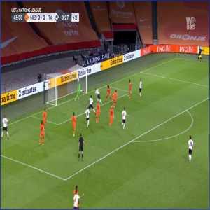 Netherlands 0 - [1] Italy - Barella 45+1'