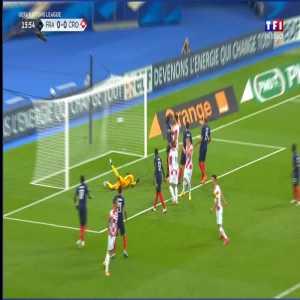 France 0 - [1] Croatia - Lovren 16'
