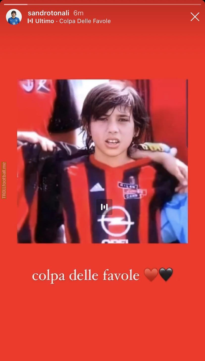 Tonali announces himself as a Milan player