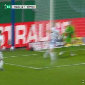 Duisburg 0-1 Dortmund - Jadon Sancho penalty 14'