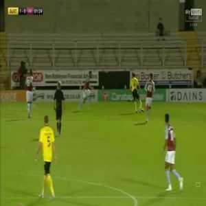 Burton Albion 1-0 Aston Villa - Colin Daniel 2'
