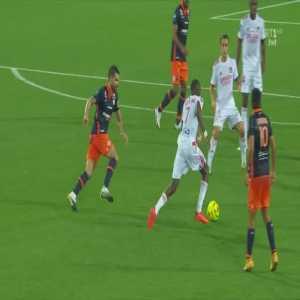 Montpellier Vs Lyon | Ekambi yellow card for simulation