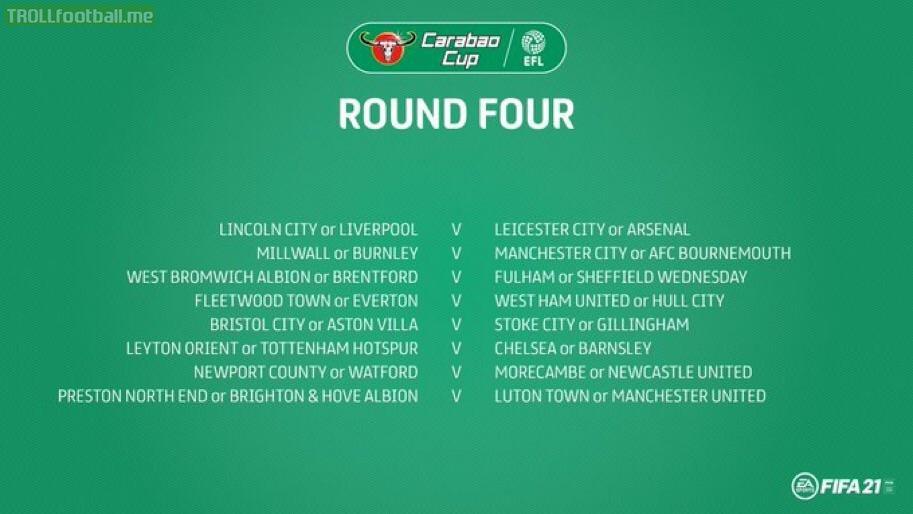 Carabao Cup Round 4 Fixtures