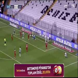 Besiktas [1] - 0 Antalyaspor - Cyle Larin 33'
