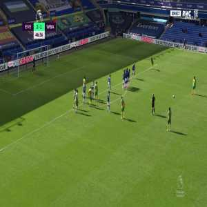 Everton 2 - [2] West Brom - Mattheus Pereira Freekick 47'