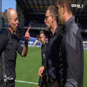 West Brom coach Slaven Bilic red card