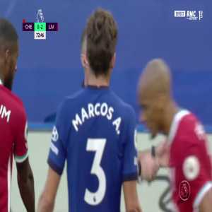 Chelsea 0 - 2 Liverpool - Alisson penalty save 75'