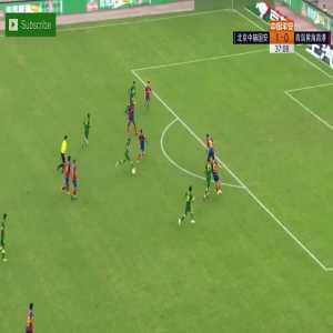 Beijing Guoan(2)-0 Qingdao Huanghai - Jonathan Viera nice long shot goal