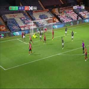 Dean Henderson great save and Eric Bailly goal-line clearance vs Luton Town 81'