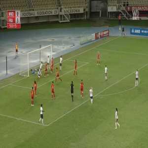 North Macedonia W 0-4 France W - Elisa De Almeida 51'