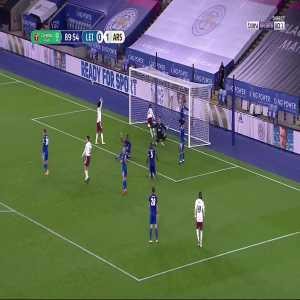 Leicester 0 - [2] Arsenal - Nketiah 90'
