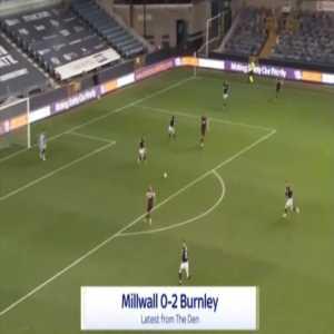 Millwall 0-2 Burnley - Matej Vydra 90'+3'