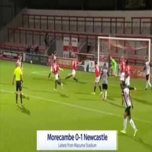 Morecambe 0-1 Newcastle - Joelinton 5'