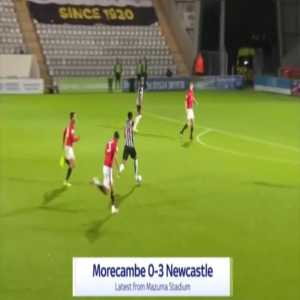 Morecambe 0-3 Newcastle - Jacob Murphy 27'