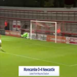 Morecambe 0-4 Newcastle - Joelinton 31'