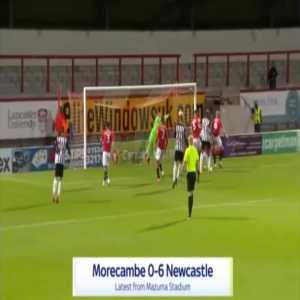 Morecambe 0-6 Newcastle - Jamaal Lascelles 51'