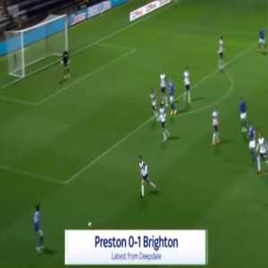 Preston 0-1 Brighton - Alireza Jahanbakhsh 57'