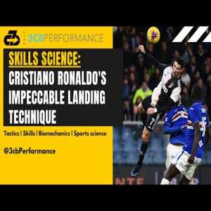 [OC] Explaining CR7's landing technique and biomechanics: A key to his sustained air dominance & health | Video analysis