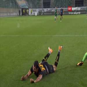 St. Gallen 0 - [1] AEK Athens - Oliveira Penalty (+Call +Replays)