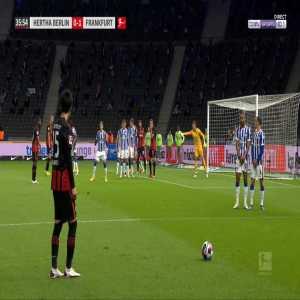 Hertha Berlin 0-2 Eintracht Frankfurt - Bas Dost 36'