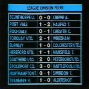 League Division Four results (Comedy)