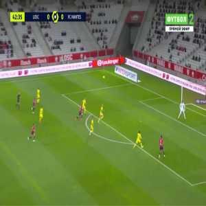 Lille 1-0 Nantes - Jonathan David 43'