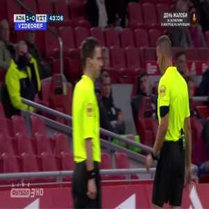 Edson Alvarez (Ajax) straight red card against Vitesse 44'