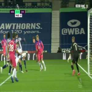 Kai Havertz (Chelsea) handball vs West Brom 90+4'