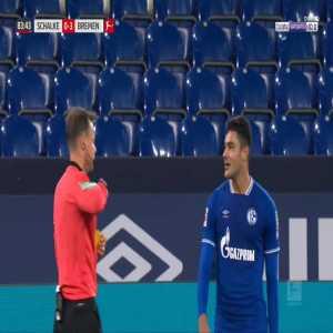 Ozan Kabak (Schalke) second yellow card against Bremen 84'