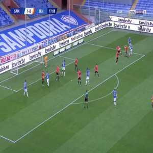 Sampdoria 2-0 Benevento - Omar Colley 18'