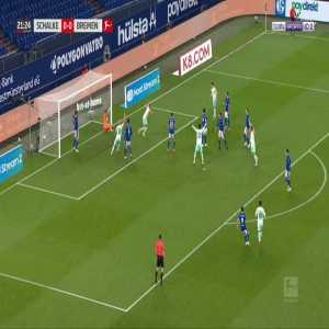 Schalke 0-1 Bremen - Niclas Fullkrug 22'