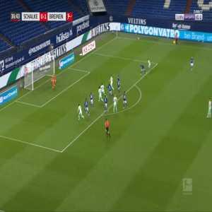Schalke 0-2 Bremen - Niclas Fullkrug 38'