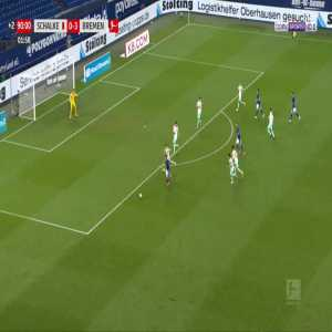 Schalke [1]-3 Bremen - Mark Uth 90'+3'