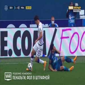 Zenit 2-0 Ufa - Artem Dzyuba penalty 32'