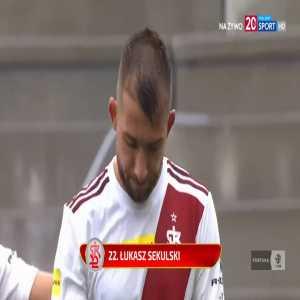 ŁKS Łódź 2-0 Sandecja Nowy Sącz - Łukasz Sekulski FK 45+3' (Polish I liga)