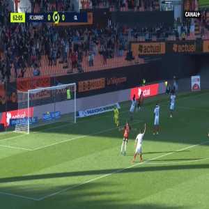 Lorient 1-0 Lyon - Yoane Wissa 62'