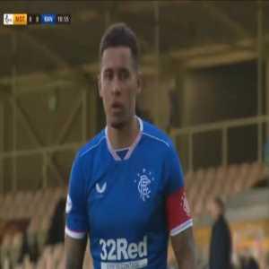 Motherwell 0-1 Rangers - James Tavernier penalty 11'