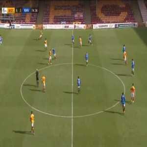 Motherwell 0-4 Rangers - Cedric Itten 75'