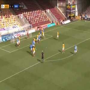 Motherwell 0-5 Rangers - Cedric Itten 80'