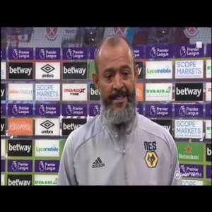 Nuno Pre Match Interview West Ham United vs Wolverhampton