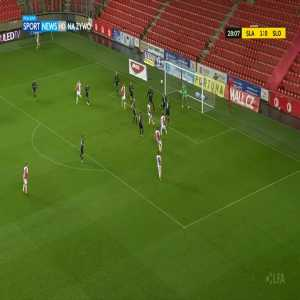 Slavia Praha 2-0 Slovácko - Ondřej Kúdela 29'