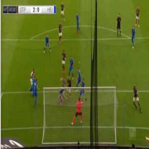 St. Pauli 2-0 Heidenheim - Patrick Schmidt OG 34'