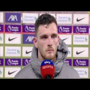 """Andy Robertson : """"I don't think we can have too much to complain about apart from my assist at the wrong end"""""""