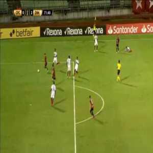 Caracas 3 red cards against Independiente Medellín